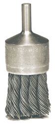 "Weiler #10187  1-1/8"" KNOT WIRE END BRUSH, .0118"" STEEL FILL"
