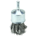 "Weiler #10141  1-1/8"" KNOT WIRE END BRUSH, .006"" STEEL FILL"