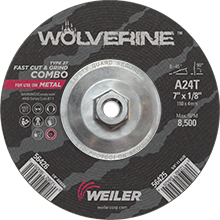 "Wolverine #56425 - 7"" Cut/Grind Combo"