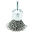 "ITEM # 10006 3/4"" CRIMPED WIRE END BRUSH, .0104"" STEEL FILL"